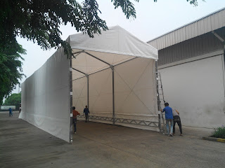 tenda roder, tenda gudang