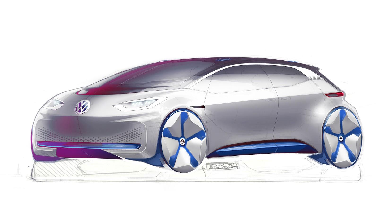 Volkswagen ID sketch by Akos Szaz