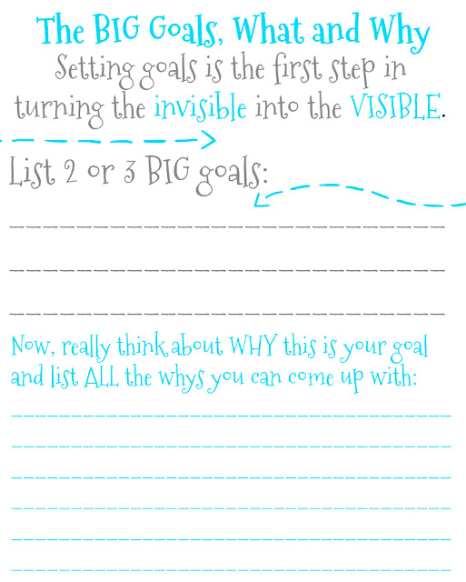 free printable for setting and reaching goals and resolutions
