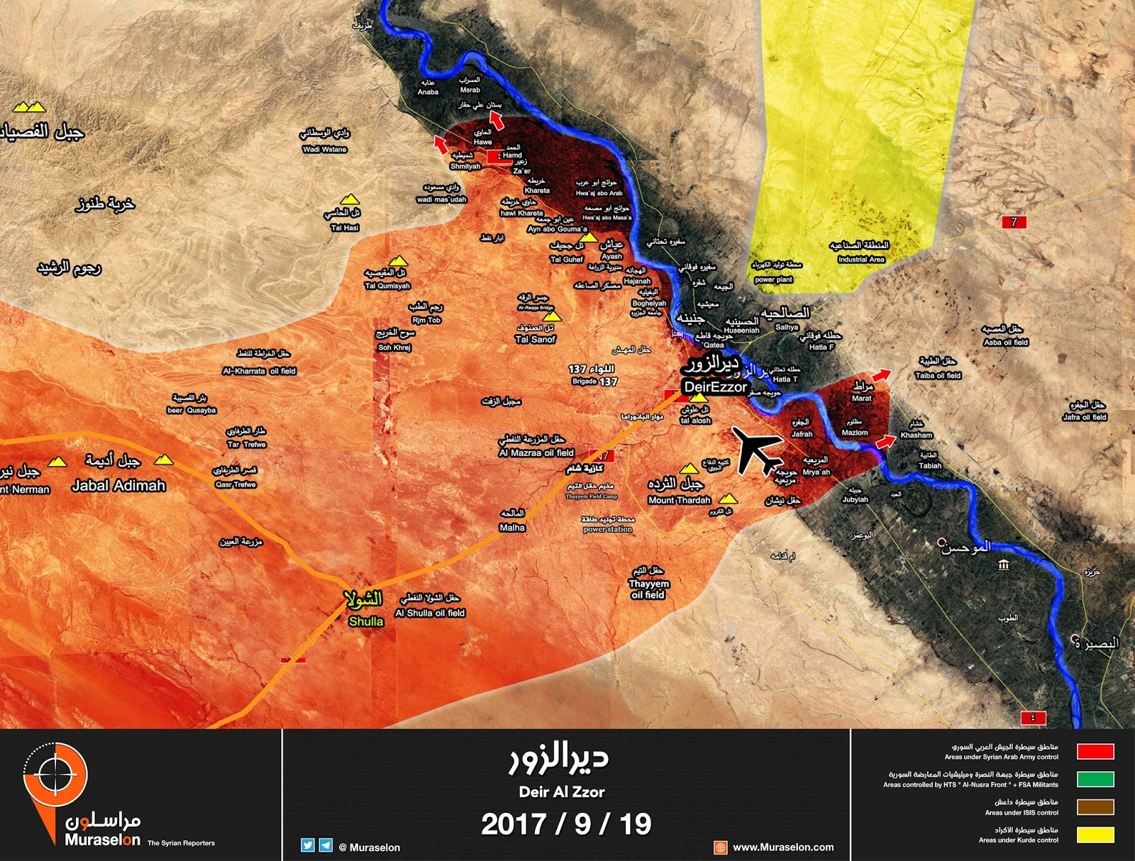 Meanwhile As Seen In The Above Murasalon Map The Syrian Army Are Pushing Their Offensive Against Isis Directly To Oilfields They Control
