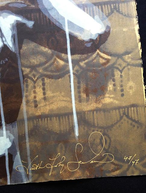 """Mysterium Tremendum Et Fascinans"" Limited Edition Screen Print By Faith47 For StreetArtNews. 3"