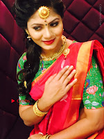 Telugu Actress Shruti Reddy Latest Poshoot Gallery in Red Silk Saree  0007.jpg