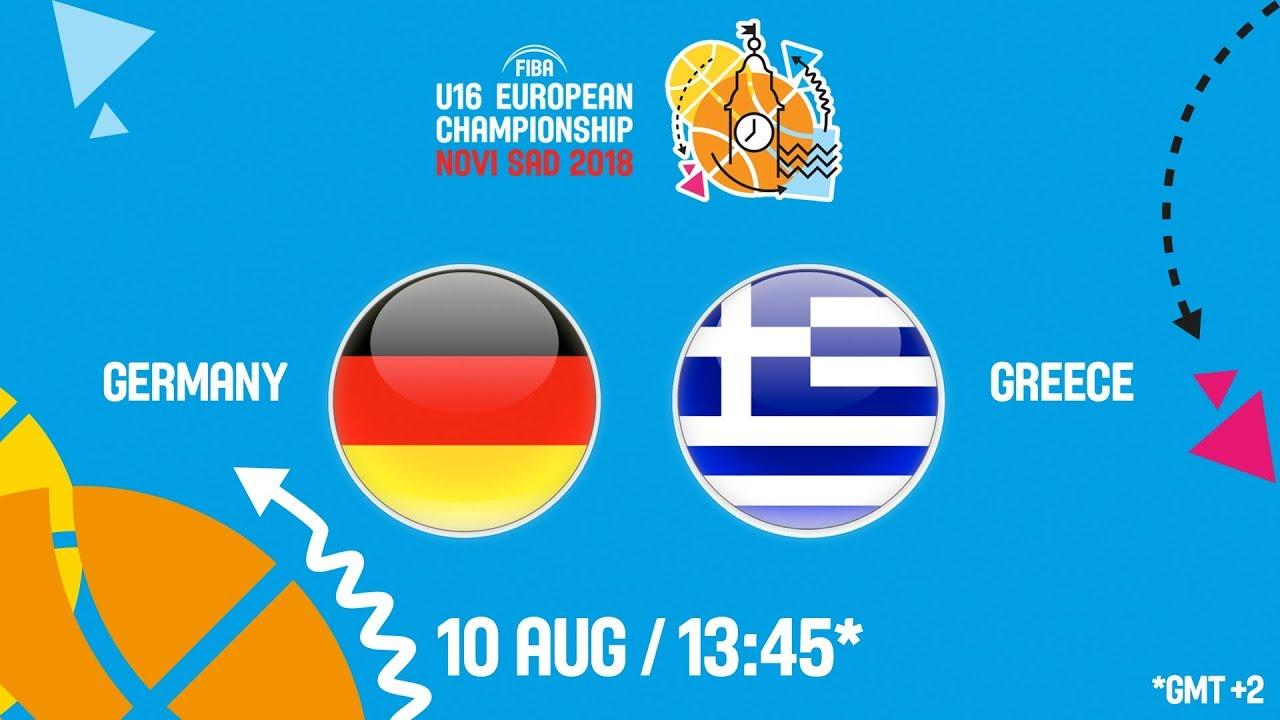 Γερμανία - Ελλάδα ζωντανή μετάδοση στις 14:45 από την Σερβία, για το Ευρωπαϊκό Παίδων