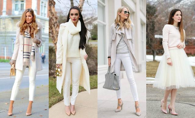 Como usar cores claras no inverno