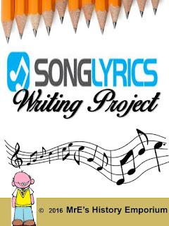https://www.teacherspayteachers.com/Product/Song-Lyrics-Writing-Project-2685559