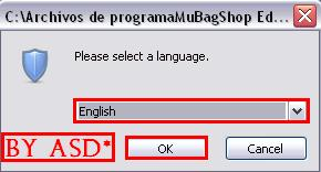 Seleccionando idioma en elinstalador