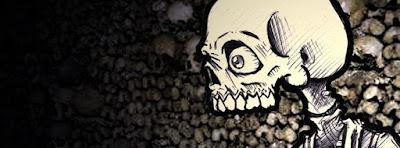 Couverture Facebook stylée tete de mort