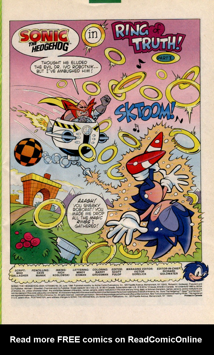 Read online Sonic The Hedgehog comic -  Issue #35 - 2