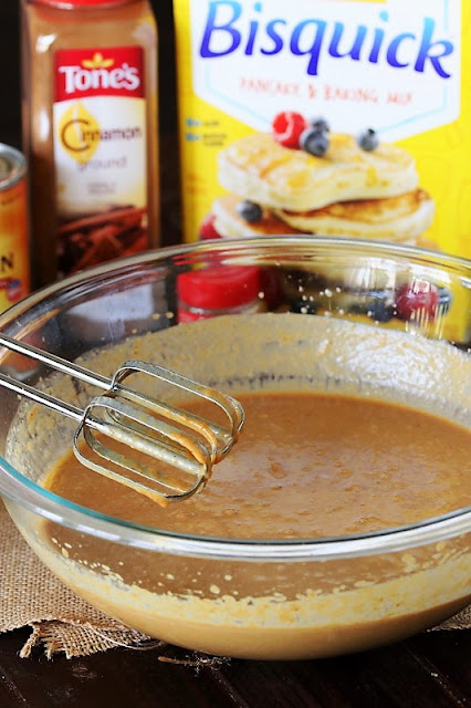 Impossible Pumpkin Pie Batter in Mixing Bowl Image