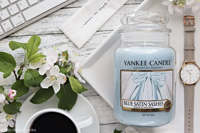 yankee candle blue satin sashes