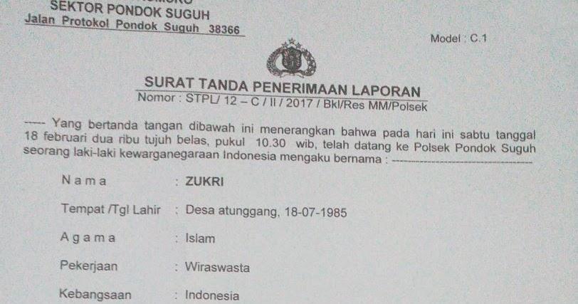 Surat Keterangan Kehilangan Dari Kepolisian Semua Surat
