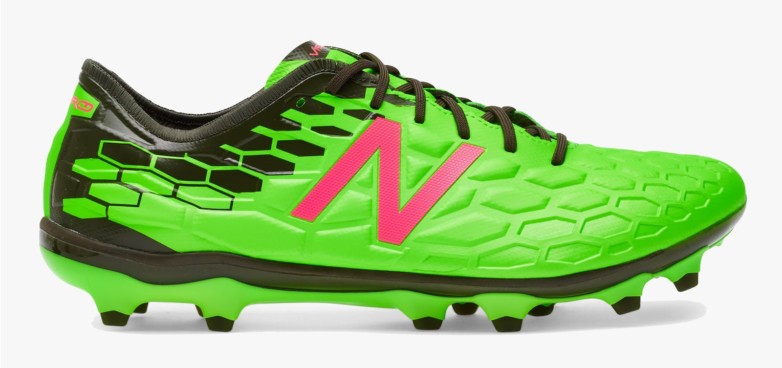 New Balance Visaro II Pro - Energy Lime / Alpha Pink / Black. This image  shows the boldest New Balance Visaro 2 football boots ...
