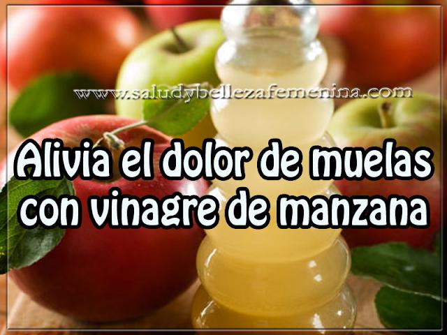 Salud y bienestar , alivia el dolor de muelas con vinagre de manzana
