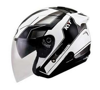 Harga Helm KYT GX-S White/Gun Metal