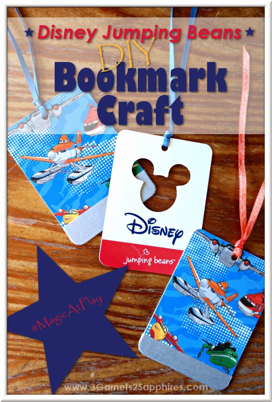 Kohl's Disney Jumping Beans #FireAndRescue Collection Bookmark Craft Tutorial | www.3Garnets2Sapphires.com #MagicAtPlay