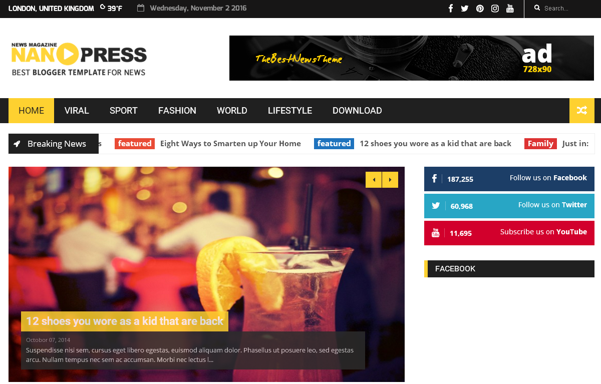 Free Nanopress Blogger Template 2016 - Free Blogger Template Seo ...