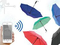 Haz Umbrella, Payung Pintar Yang Terbuka Otomatis 2 Detik Sebelum Turun Hujan
