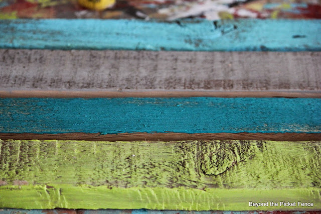 Painting reclaimed barn wood