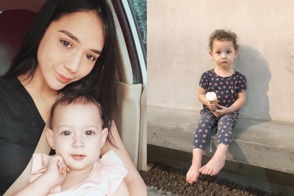 10 Potret Gemas Kaiala Roselsye, Anak Raquel Larkin yang Berparas Bule