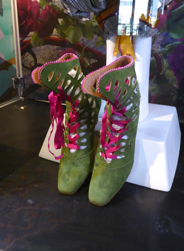 Alice Through the Looking Glass green costume boots
