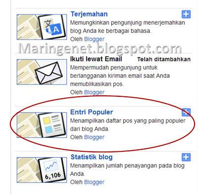 Menambahkan Popular Post di Blogspot