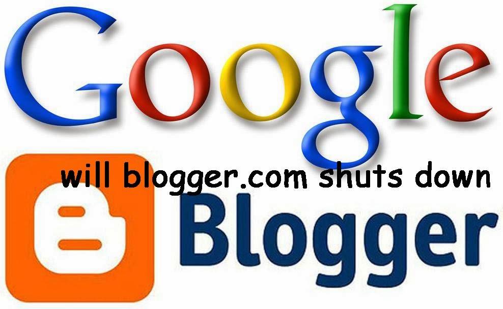 blogger shutdown