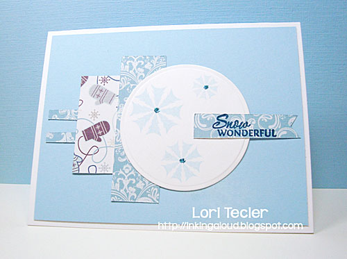 Snow Wonderful card-designed by Lori Tecler/Inking Aloud-stamps from Verve Stamps