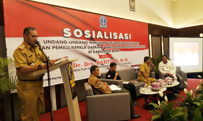 Kesbangpol Bone Gelar Sosialisasi Undang-Undang Pemilu