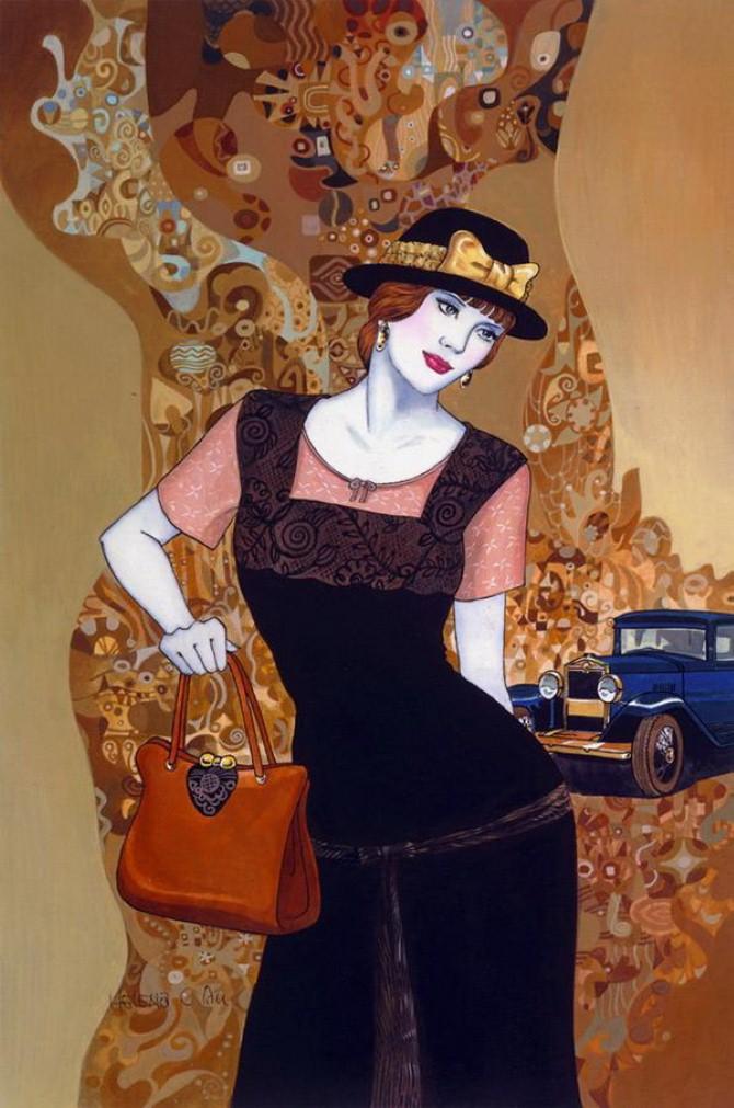 Helen Lam. Картины в стиле ар-деко 16