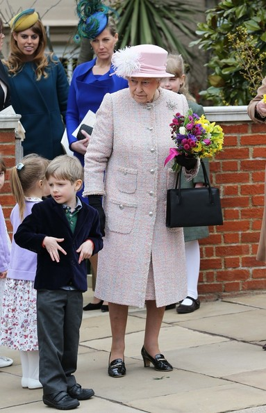 British  Royal Family attended   traditional Easter Sunday service at St George's Chapel in the grounds of Windsor Castle