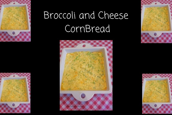 this is a broccoli cheese bread baked in a revol pan then put  in a wicker basket cut up made with cornbread from scratch and broccoli delicious cheese bread