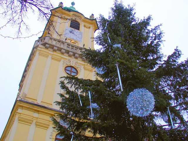 The Bratislava Christmas market in the Old Town Hall Square or Stará radnica.