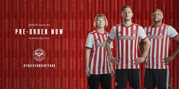 c3e5d1cbc English football club Brentford FC and Adidas released the new home kit for  the 2018-2019 season.