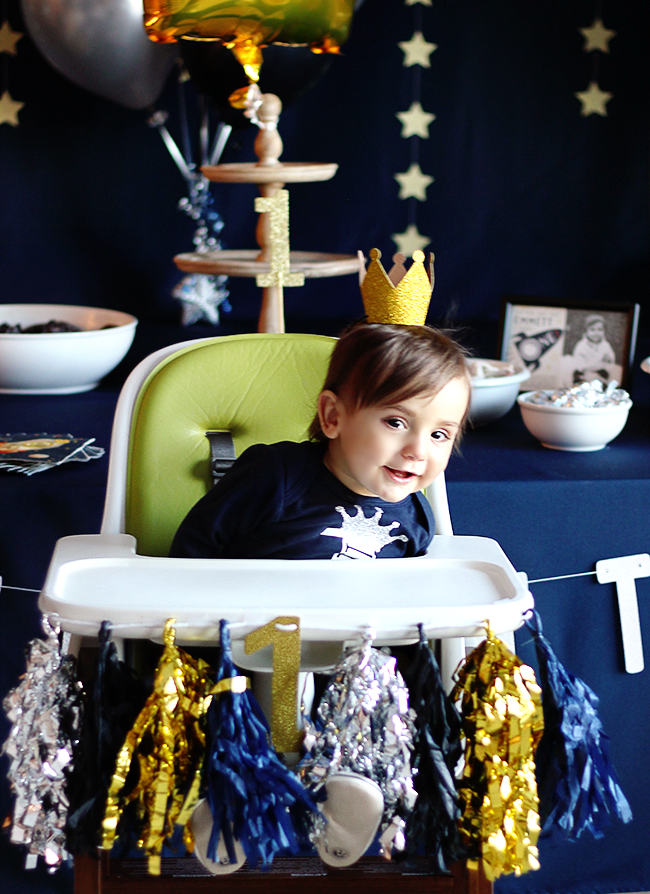 A Space Themed First Birthday Party (Bubby and Bean)