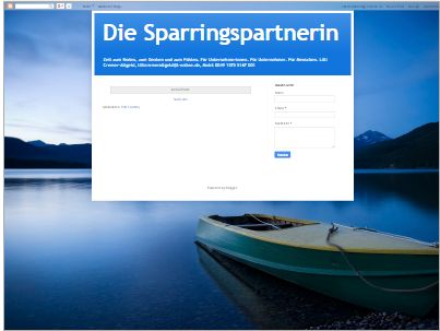 Die Sparringspartnerin