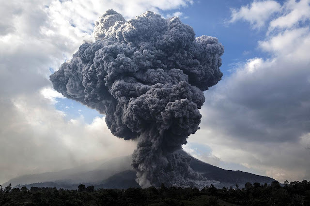 Mount Sinabung Volcano Eruption