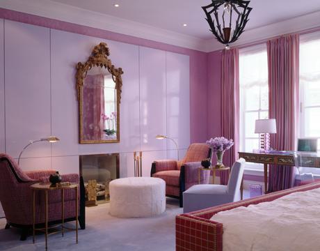 Pintar paredes en color rosa p rpura y violeta ideas for Chica azul dormitorio deco