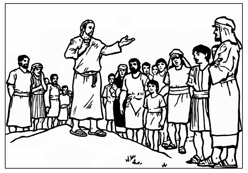 El Renuevo De Jehova: Jesus Enseña - Imagenes para colorear ...