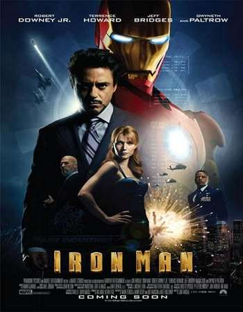 Poster Of Iron Man 2008 Dual Audio 450MB BRRip 720p ESubs HEVC Free Download Watch Online downloadhub.in