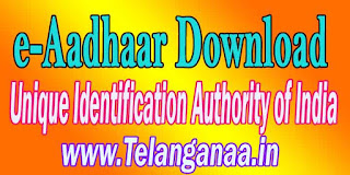 e-Aadhaar Download by Unique Identification Authority of India