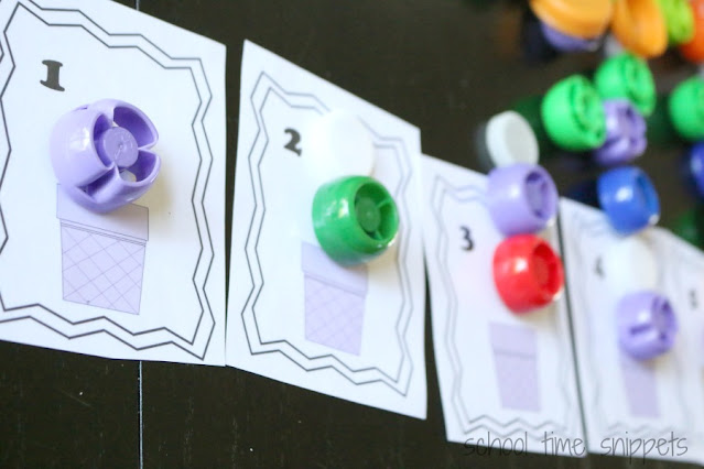 ice cream counting cards for preschoolers