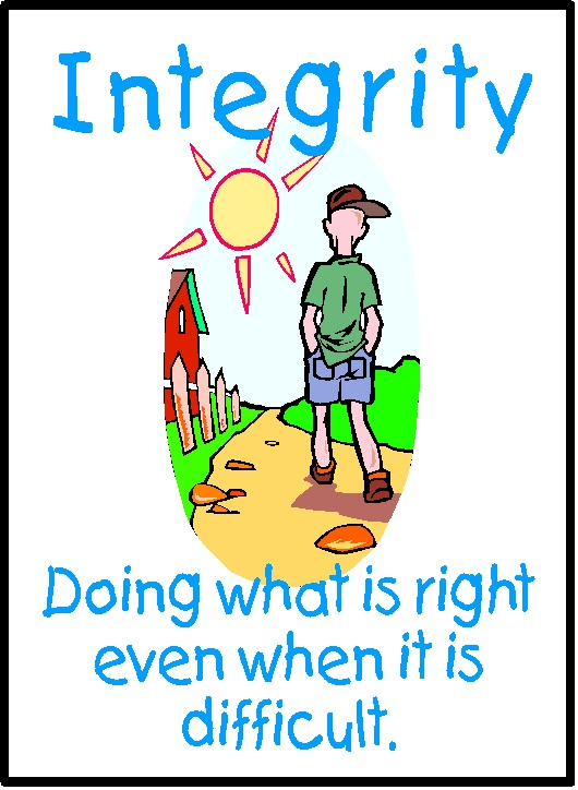 "Integrity: ""adherence to moral and ethical principles; soundness of moral character"""