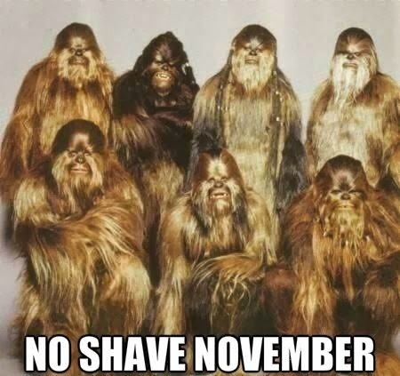 Funny Bigfoot no shave Movember Group Photo