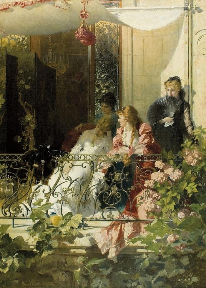 Конрад Кизель Conrad Kiesel - Дамы на балконе