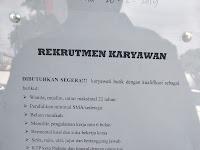 Lowongan Kerja Padang : Karyawan Butik