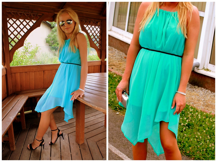 Sammydress review. Turquoise dress.