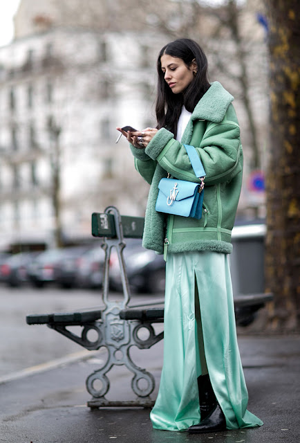 slip dress, shearing jacket, fall 2016, street style, spring 2016, trends, fashion week, NYFW, PFW, LFW, new york fashion week, paris fashion week, london fashion week