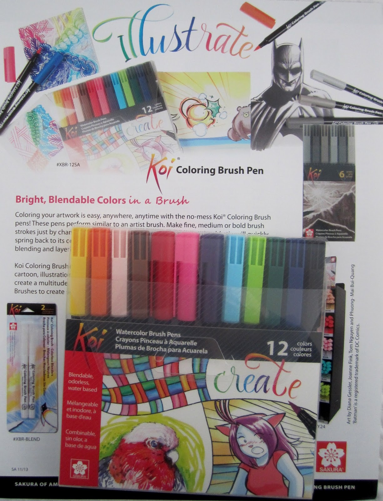 Braces Tangle Pattern & Koi Coloring Brush Pen Set Review ...