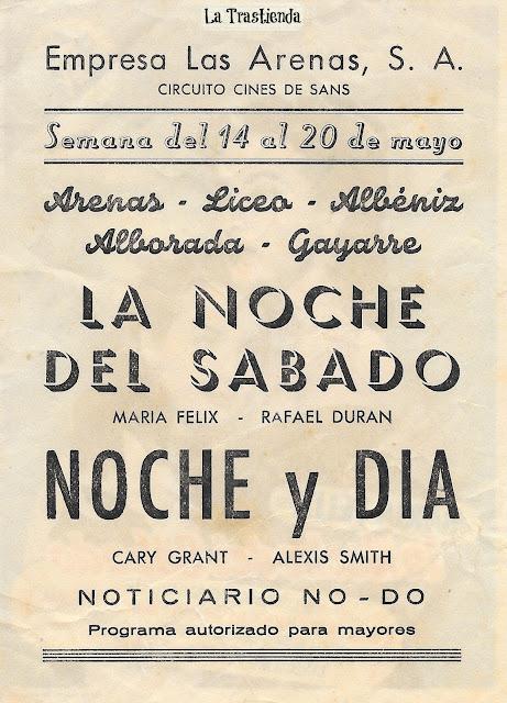 La Noche del Sábado - Programa de Cine - María Félix - Rafael Durán