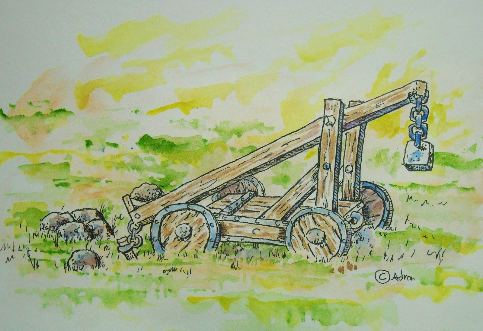 How To Draw Worksheets For The Young Artist How To Draw A Catapult Lesson And Worksheet